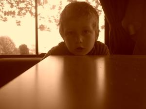 Little Man in campervan