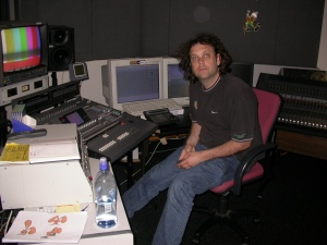 Here's Roj our wonderful Director of Sound, in at TVNZ for one of our master edit sessions. We laid the story out on my Sony Vaio laptop first and then took the 'rough cut' into the studio to fine tune. We worked many late nights in here!