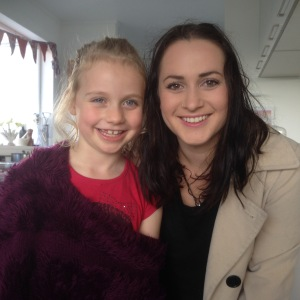 my eldest niece with my daughter recently